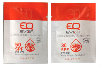samples evoa suncare