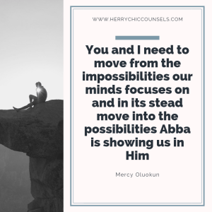 Possibilities - Choosing to trust Him