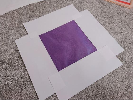 A4コピー用紙でテトロンスクリーンを補強