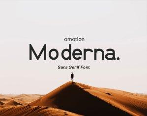 omotion Moderna – Free Font