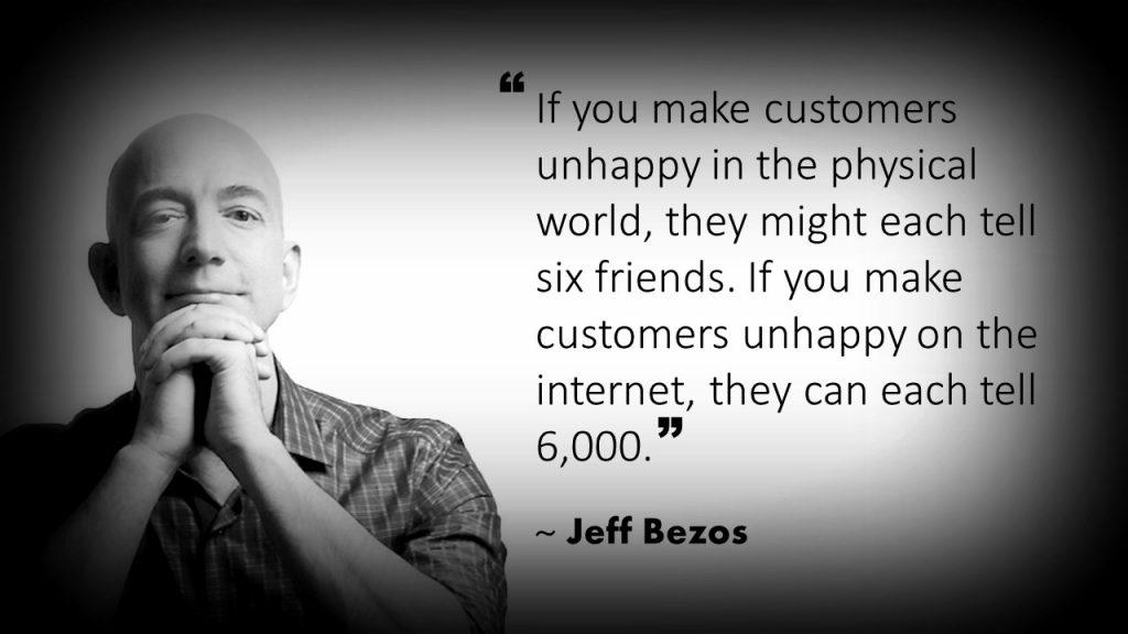 Jeff Bezos Customer Service Quote