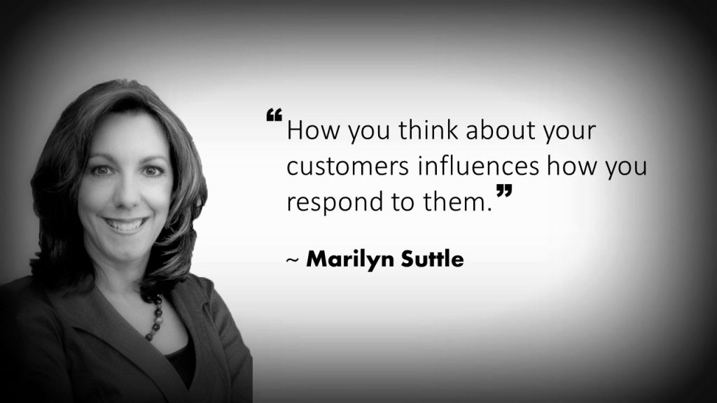 Marilyn Suttle Customer Service Quote