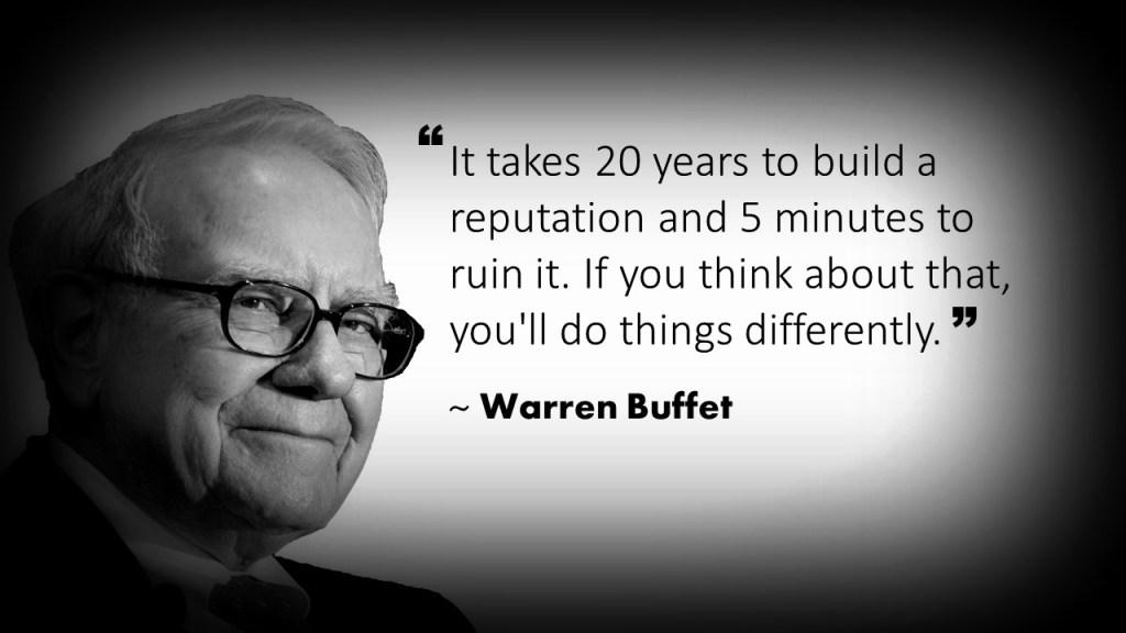 Warren Buffet Customer Service Quote