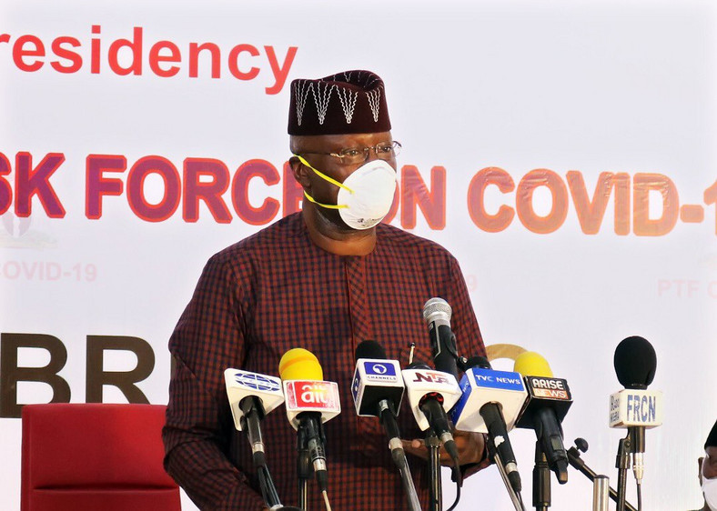 boss mustapha communicating with Nigerians on coronavirus