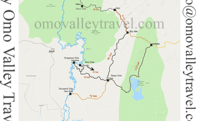 Map of Omo Valley