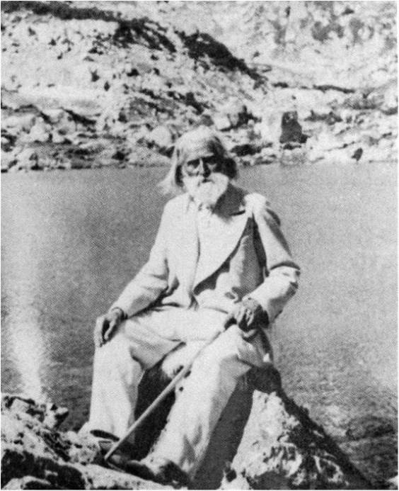 Peter Deunov in the Rila Mountains, Bulgaria