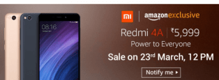 Redmi 4A Flash Sale Trick