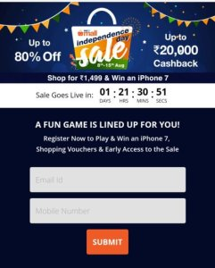 Paytm Independence Day Offer-Solve the Puzzle and Get Rs 500