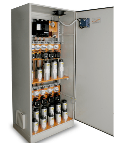 Banco de capacitores: imagem de banco