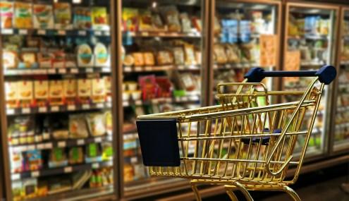 banco de baterias: foto de supermercado