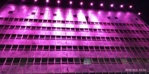 Iluminação de fachadas: fachada da Copel com LED RGB