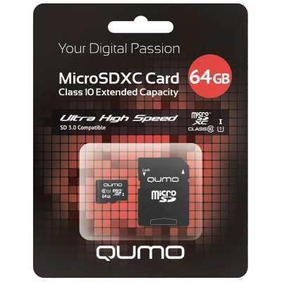 Карта памяти Qumo Micro-SD 64Gb