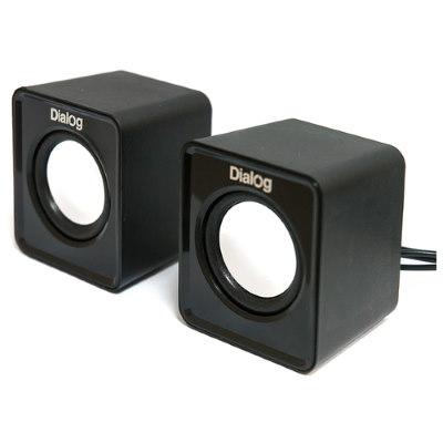 колонки маленькие для ноутбука Dialog AC-02UP черные
