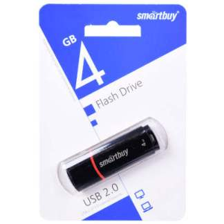 USB флешка Smartbuy Crown 4Gb черная
