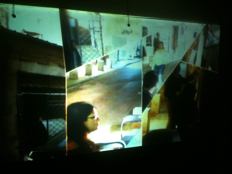 """Time, Space"" : real time video installation, OMTA"