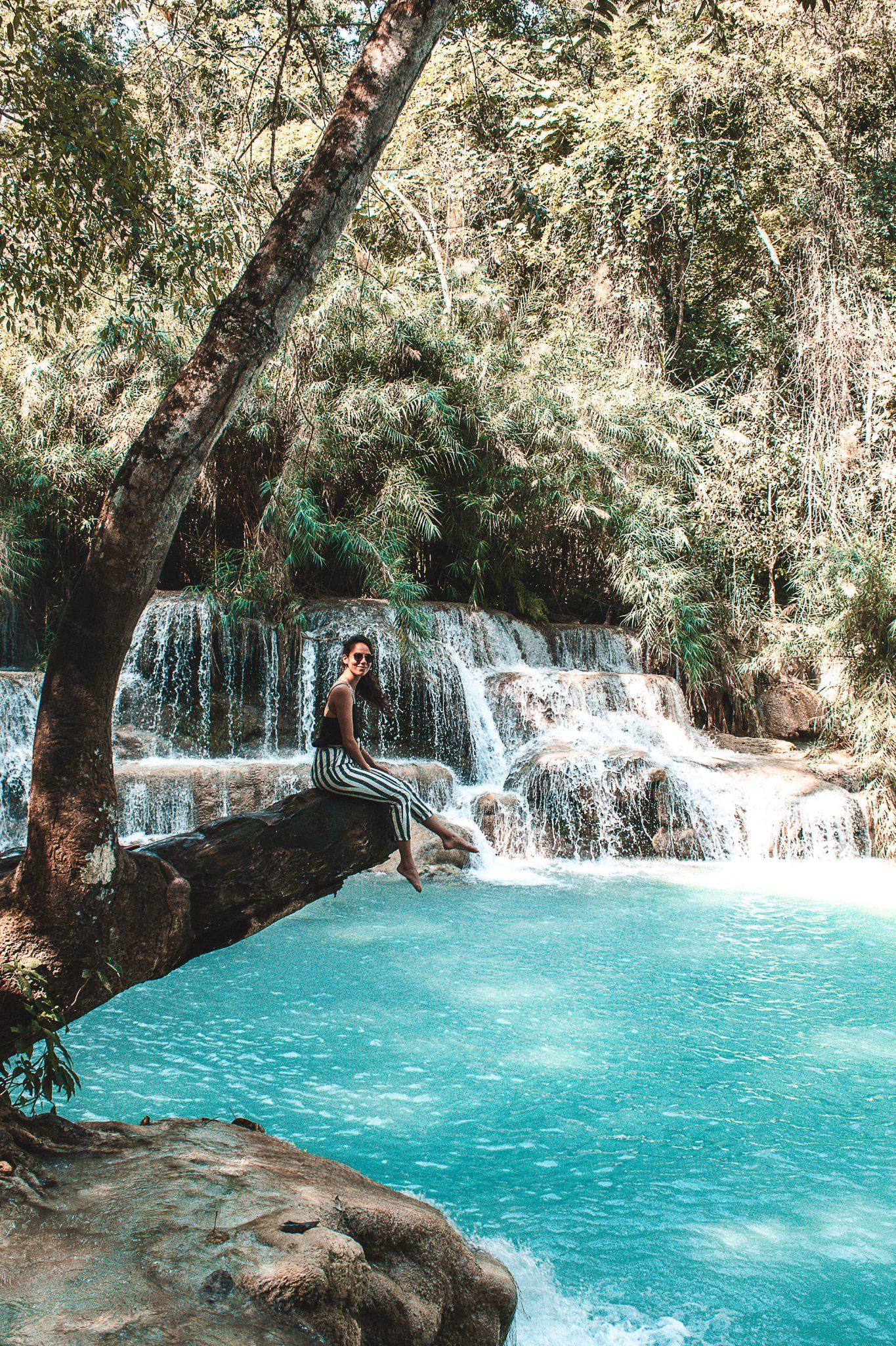 Kuang Si Falls em Luang Prabang
