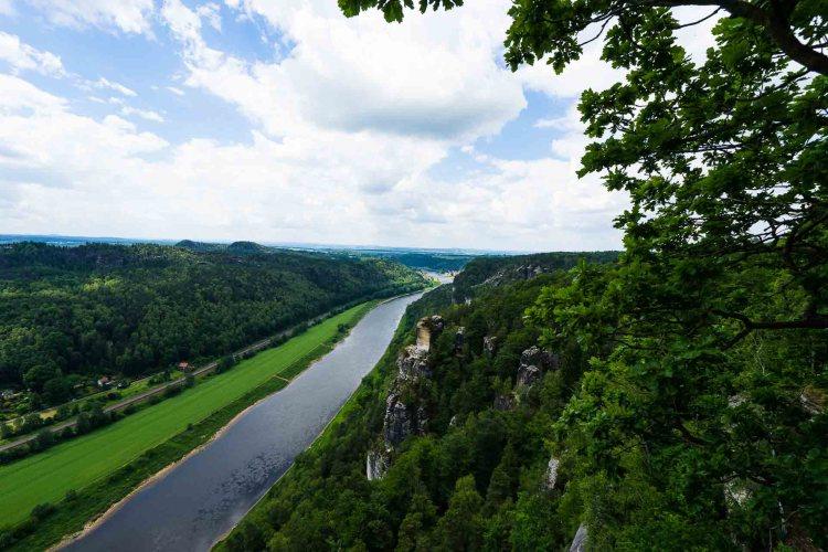 Blick auf die Elbe