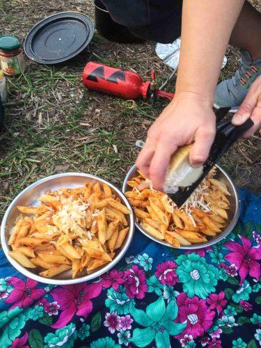 Abendessen aus der Campingkueche