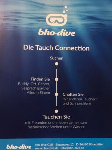 bho-dive App - die Tauch Connection
