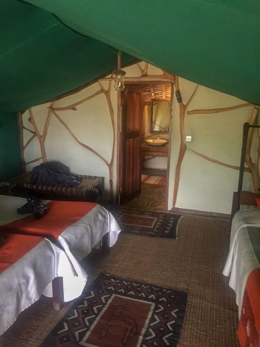 Glamping in Tsavo East, Kenia