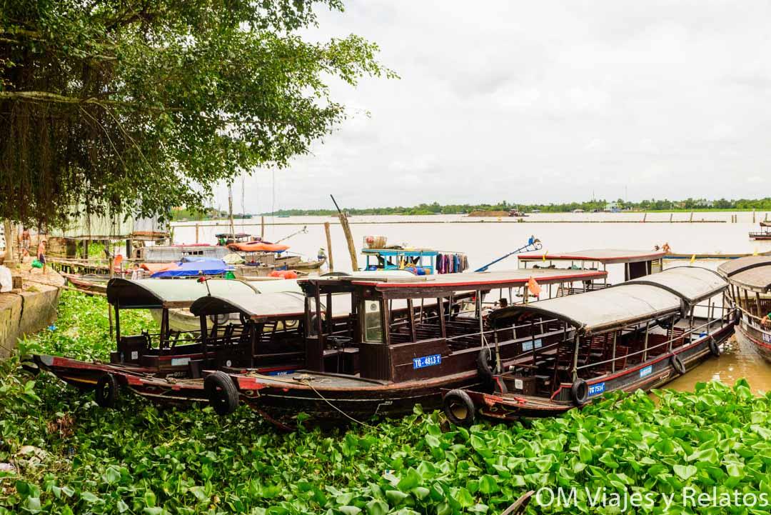El embarcadero de Cai Be, en el Delta del Mekong, Vietnam