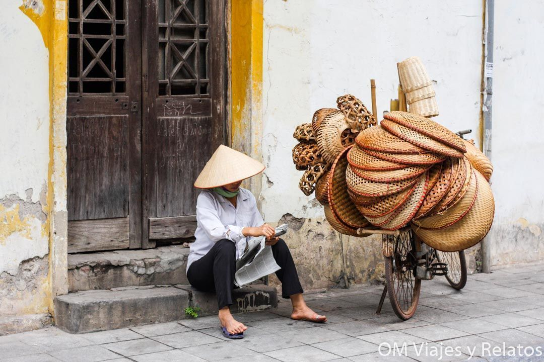 Vendedoras ambulantes de Hanoi