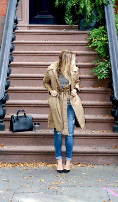 Classics, Timeless, Fashion Blogger, What I wore, Style, West Village, Trench, Skinny Jeans
