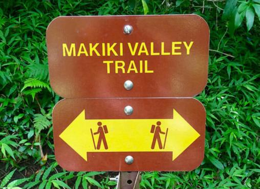 Makiki Valley Trail Sign
