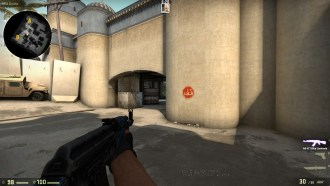 Leave a Gap between the  Wall and Crosshair