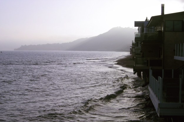 Tide is up at Malibu