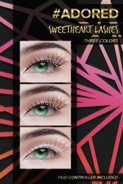 #adored sweetheart lashes flushed