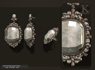 (Kunglers) Aphrodite earring crystal AD