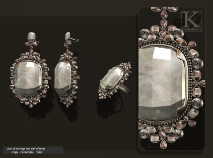 (Kunglers) Aphrodite earring crystal AD