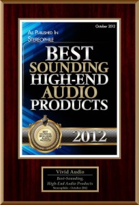 Vivid Audio K1 won Stereophile Magazine's 2012 Loudspeaker of the Year (POTY)
