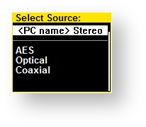 NADAC Source Menu - select Source