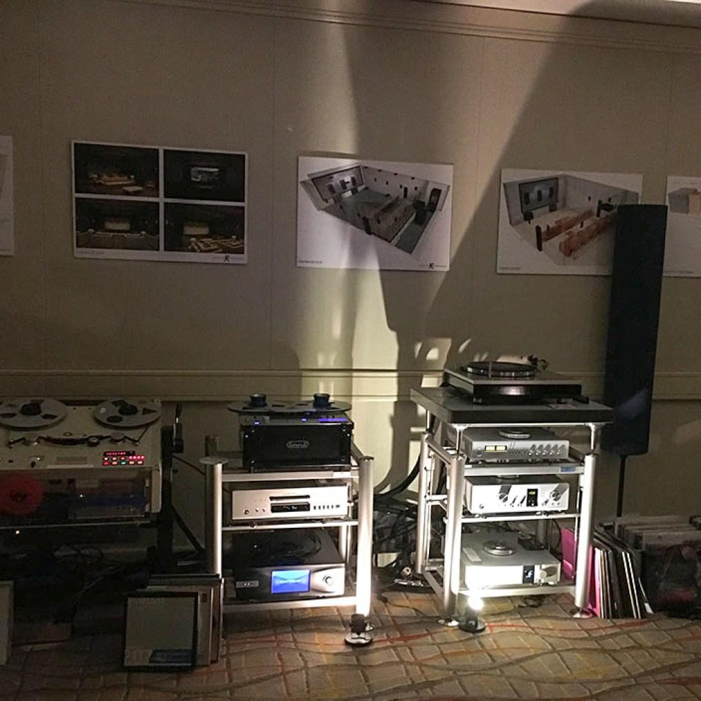 Pelican Hill equipment on Artesania Audio equipment racks