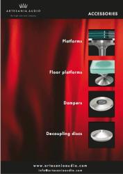 artesania audio accessories brochure cover