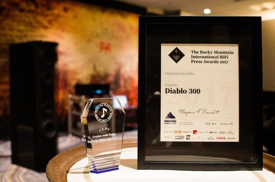 Gryphon at RMAF 2017 with Press Awards for Diablo 300
