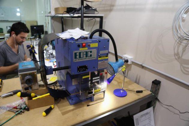Photo of EDAC multi-pin press machine