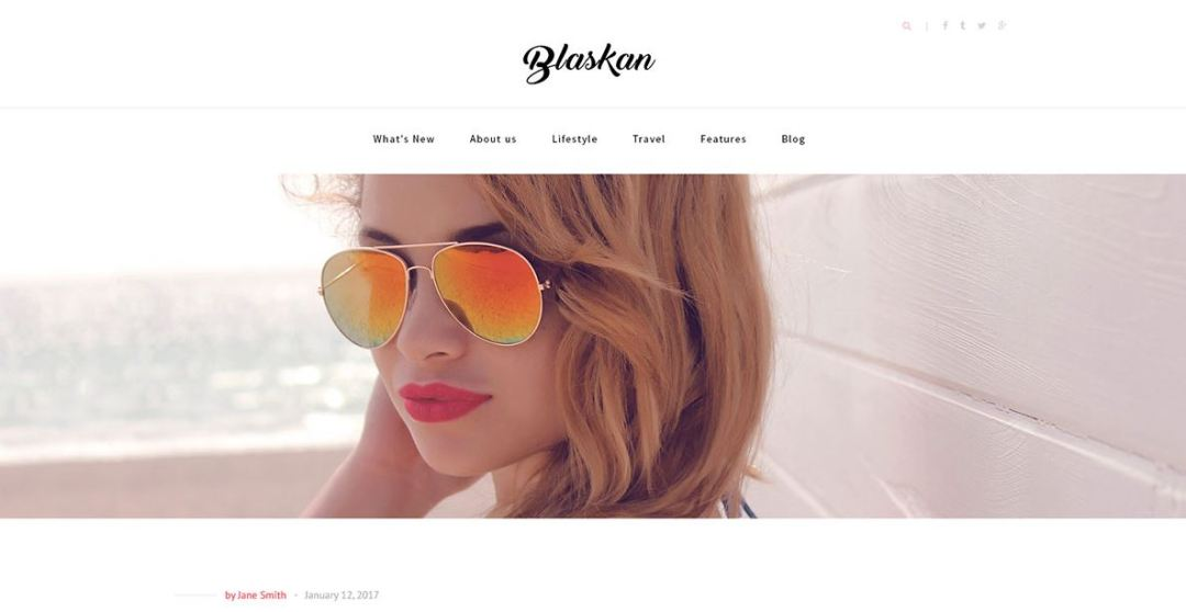 Blaskan Simple WordPress Blog Theme
