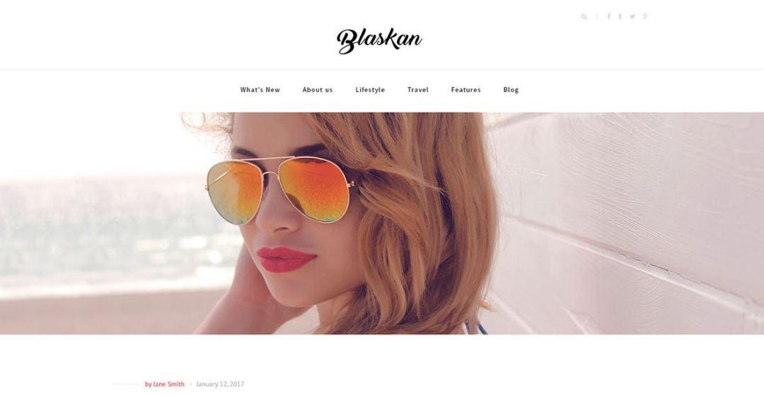 Blaskan Simple WordPress Blog Theme