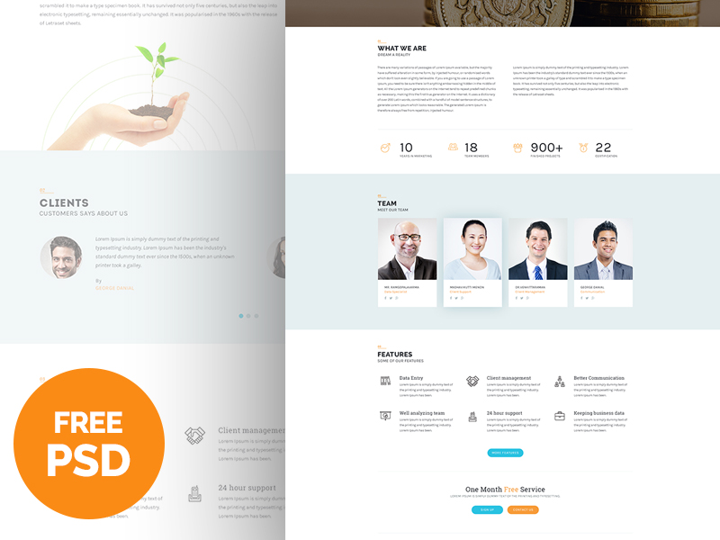 Bplus : Business Free PSD