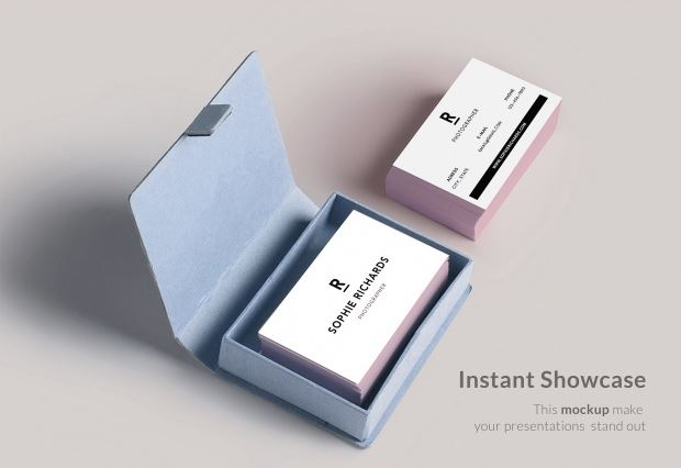 Business Card With Box Mock