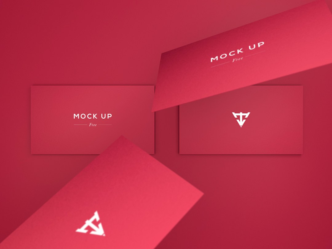 Business Cards Mock Up - FREE PSD