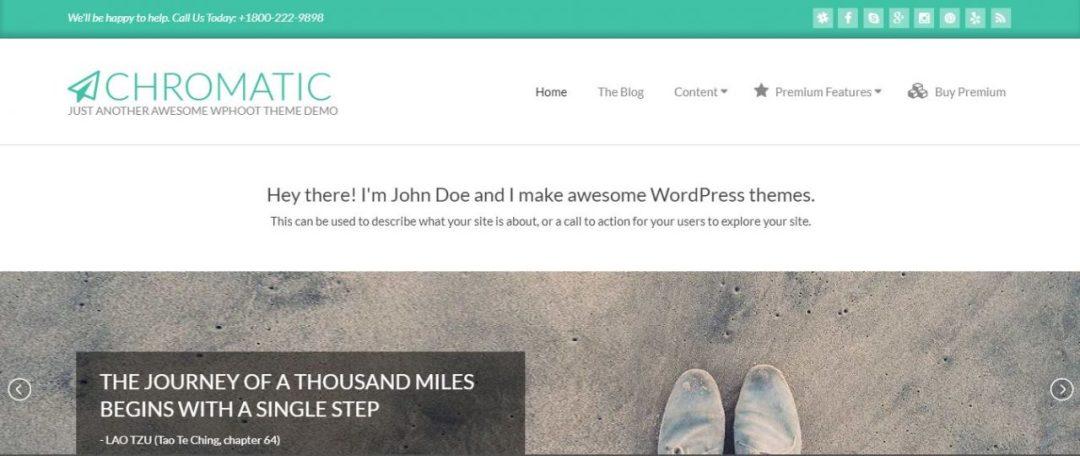 Chromatic Free WordPress Theme
