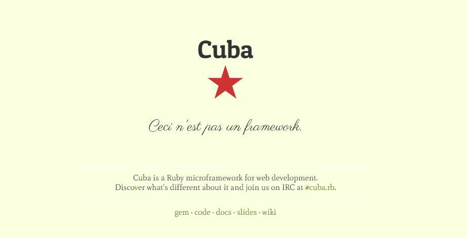 Cuba - Ruby Microframework for Web Development