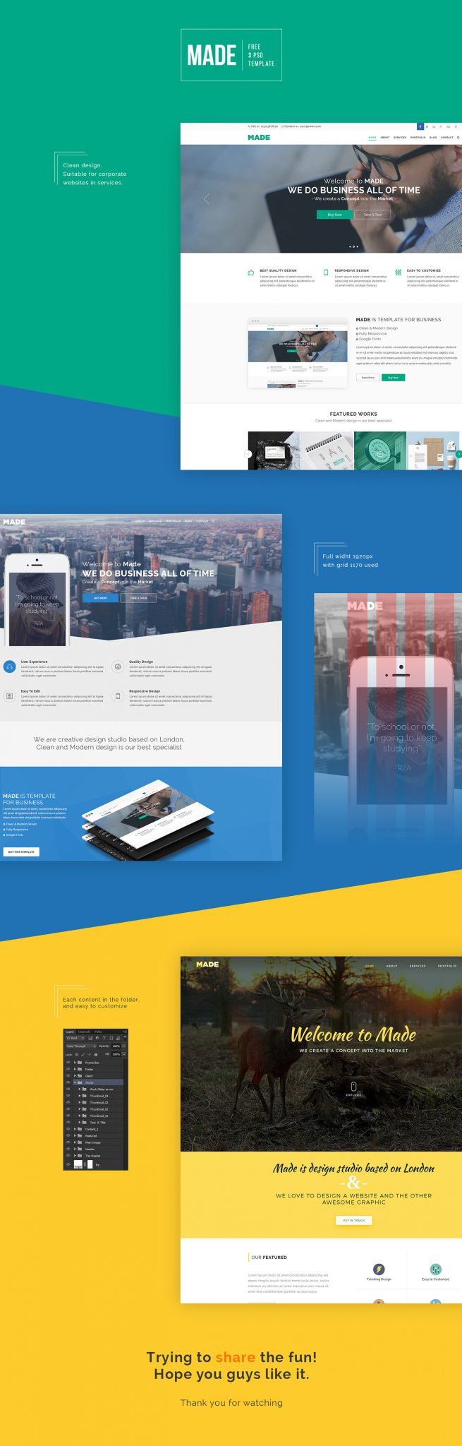 Free PSD : Business Templates