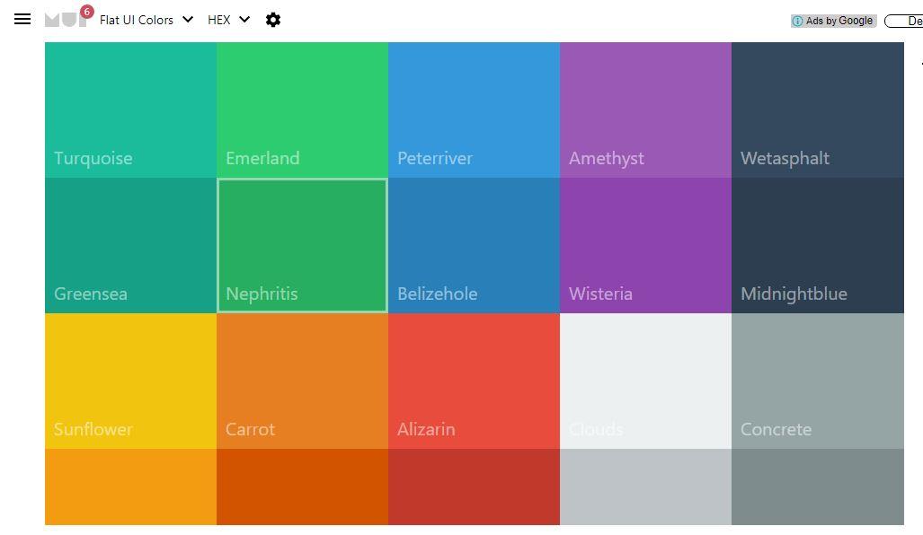 Flat UI Colors - Material UI