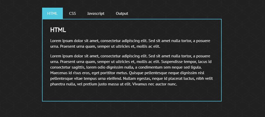 Hinge Effect Tab Menu - Best HTML CSS Tabs Menu