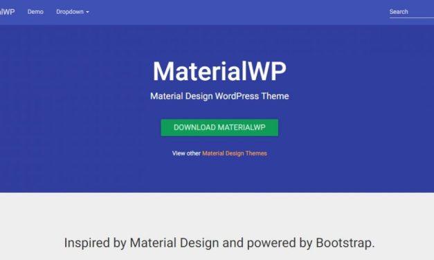 15+ Free Material Design WordPress Themes 2019